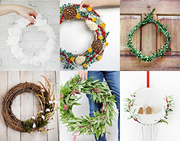 1- 15 Festive Holiday Wreaths