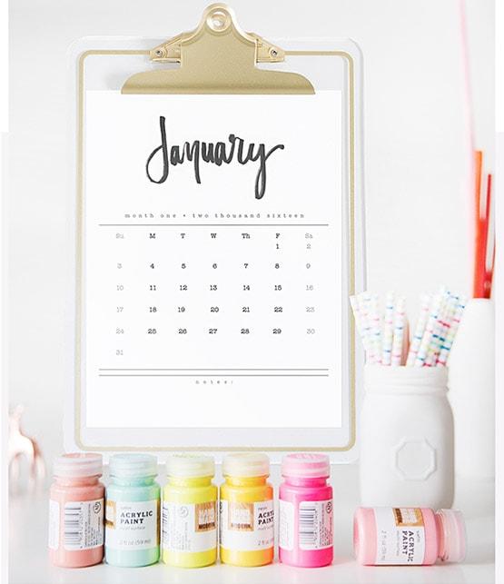 1-2016 Calendar Graphic