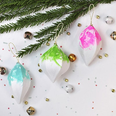 1a Colorfully Painted Christmas Ornaments
