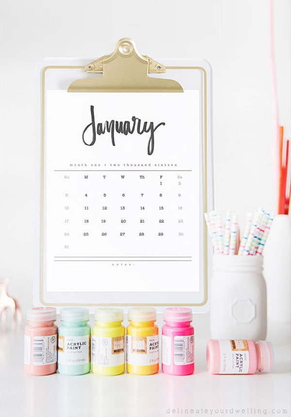 Ioanna's Notebook - Plan 2016 with free printable planners & calendars