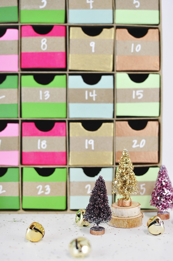 Colorful Advent Calendar detail
