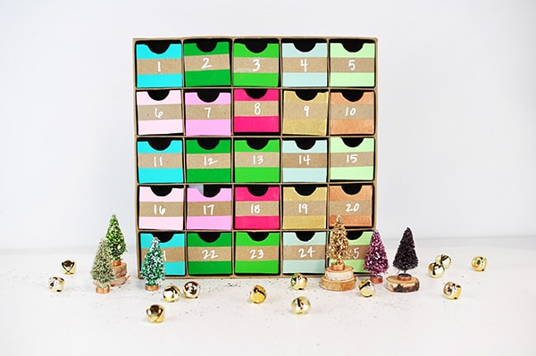 Colorful Advent Calendar horizontal