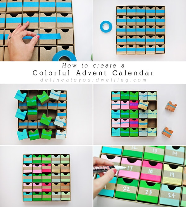 Colorful Advent Calendar steps
