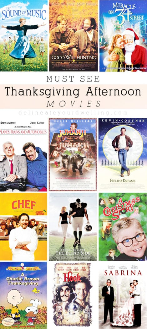 Must See Thanksgiving Movies, Delineateyourdwelling.com