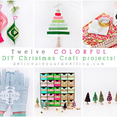 Twelve Colorful DIY Christmas Craft Projects
