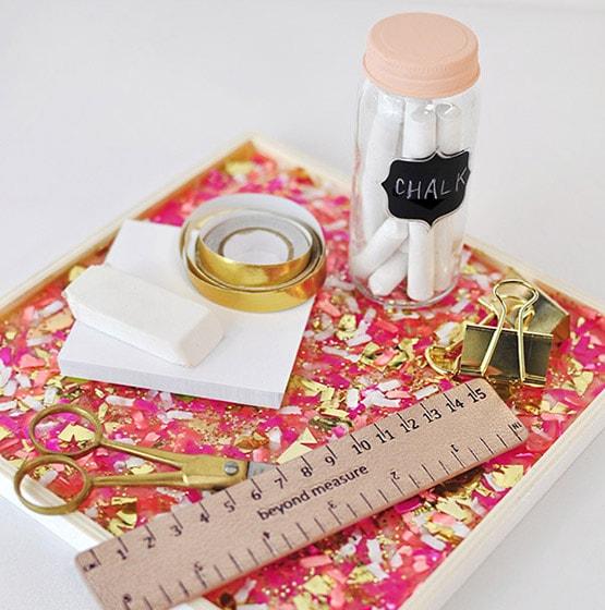 1 DIY Confetti Tray