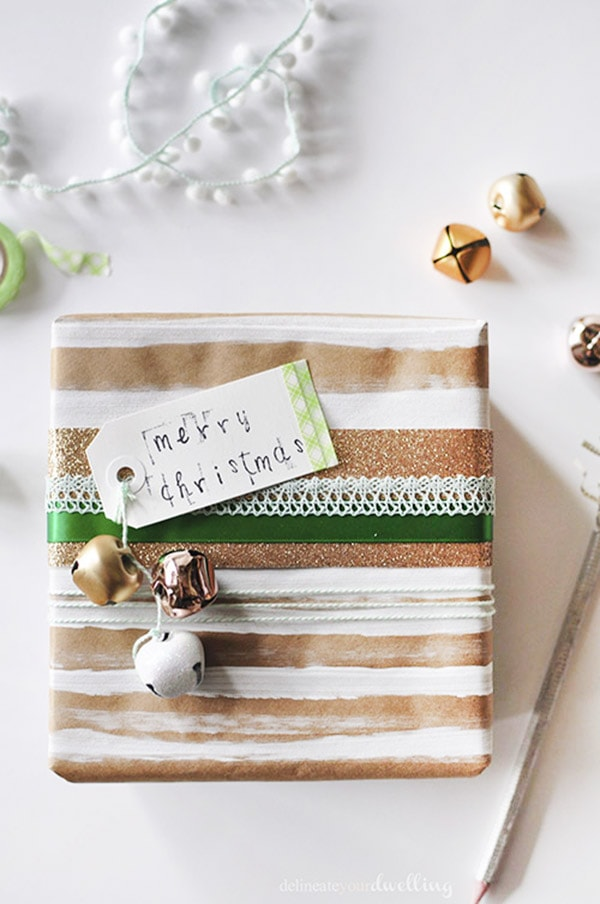 Brown Paper Package - Colorful Christmas, Delineateyourdwelling.com