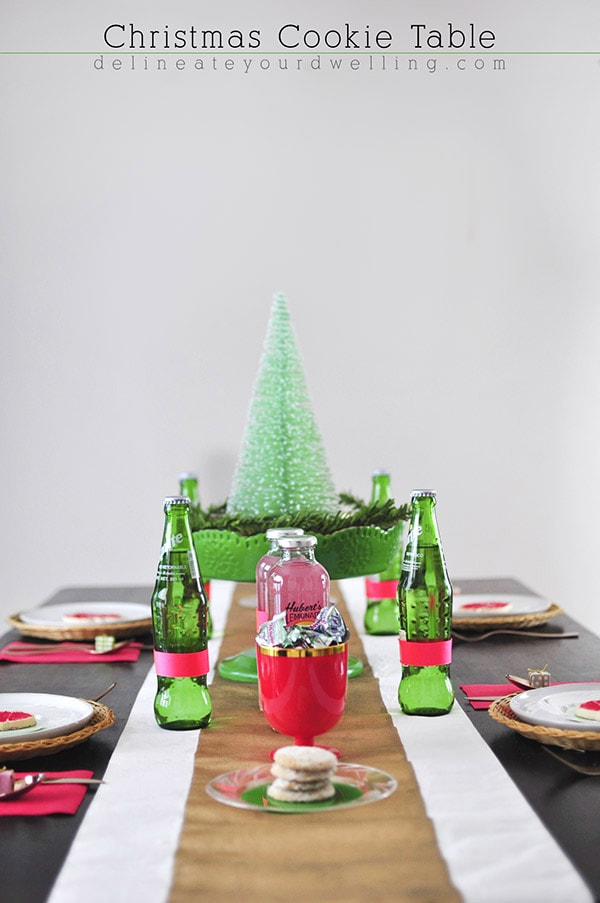 Christmas Cookie Table - Colorful Christmas, Delineateyourdwelling.com