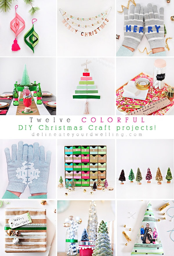 Colorful Christmas DIY ideas, Delineateyourdwelling.com