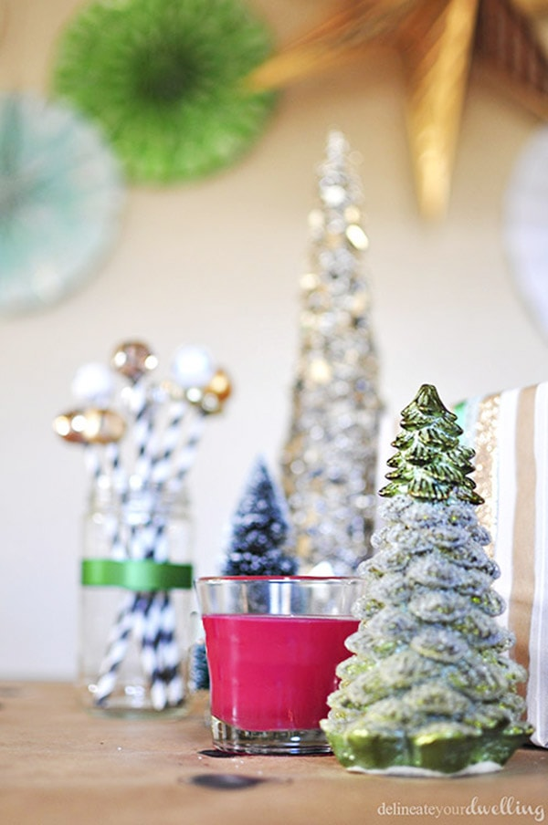 Colorful Christmas Party decor - Colorful Christmas, Delineateyourdwelling.com