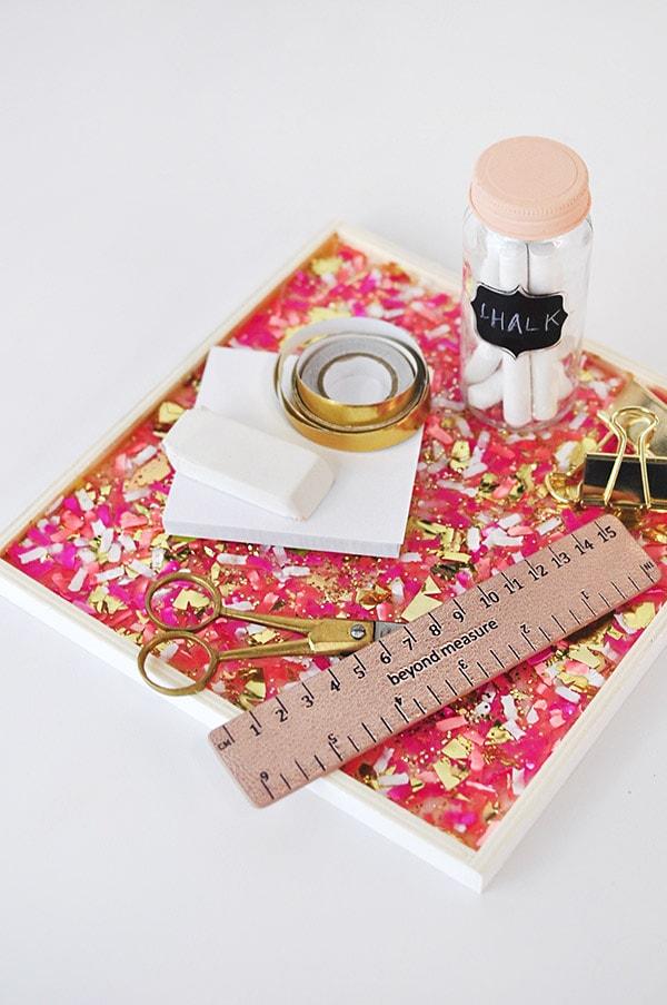 DIY Confetti Tray, Delineateyourdwelling.com