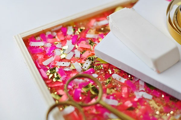 DIY Confetti Tray 3d magic detail