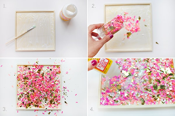 DIY Confetti Tray steps