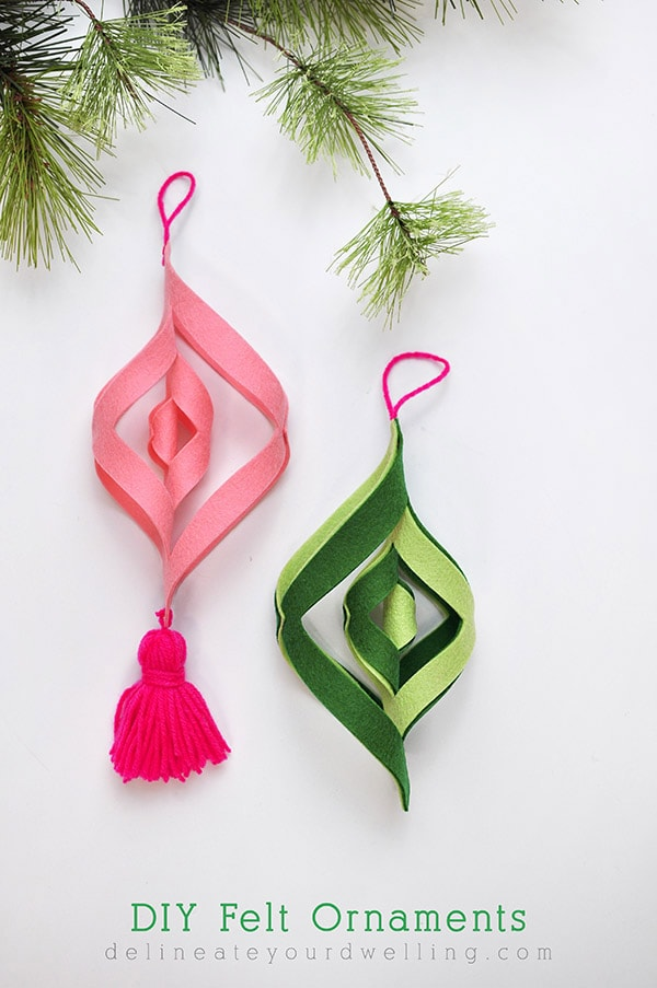 DIY Felt Ornament - Colorful Christmas, Delineateyourdwelling.com