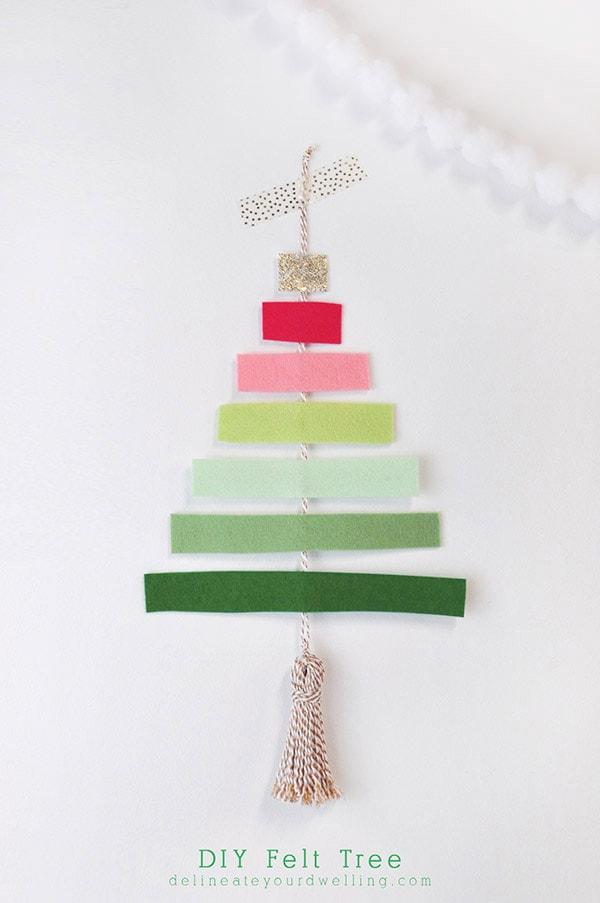 DIY Felt Tree - Colorful Christmas, Delineateyourdwelling.com