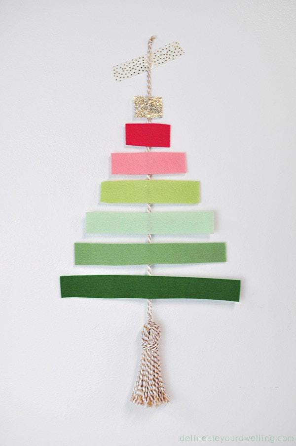 DIY Felt Tree, Delineateyourdwelling.com