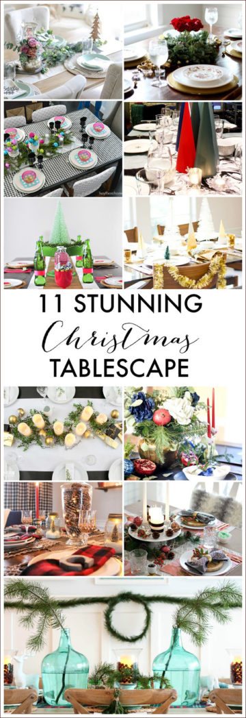 11 Stunning Christmas tables capes, Delineateyourdwelling.com