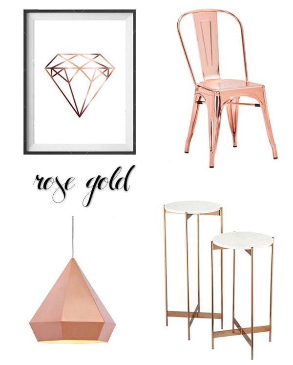 2016 Design Trends Rose Gold