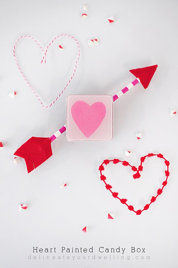 Heart Painted Candy Box, Delineateyourdwelling.com