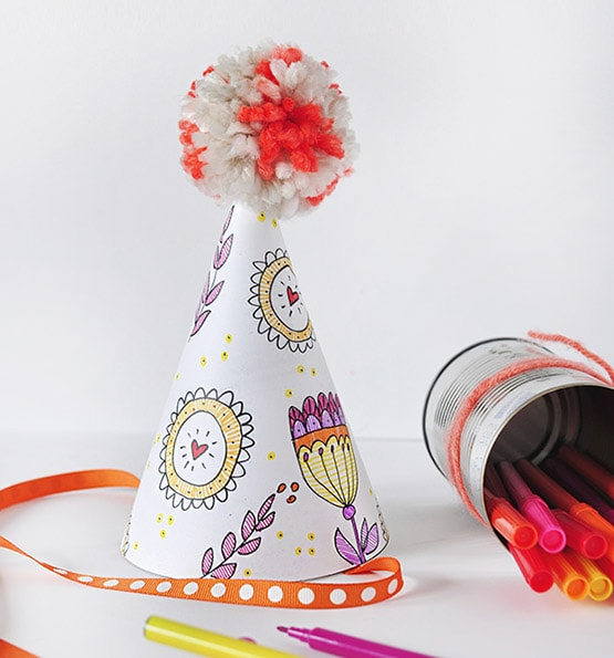 1 Color Your Own Party Hat