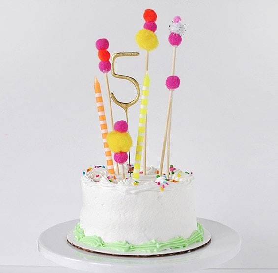 1 Pom Pom Birthday Cake