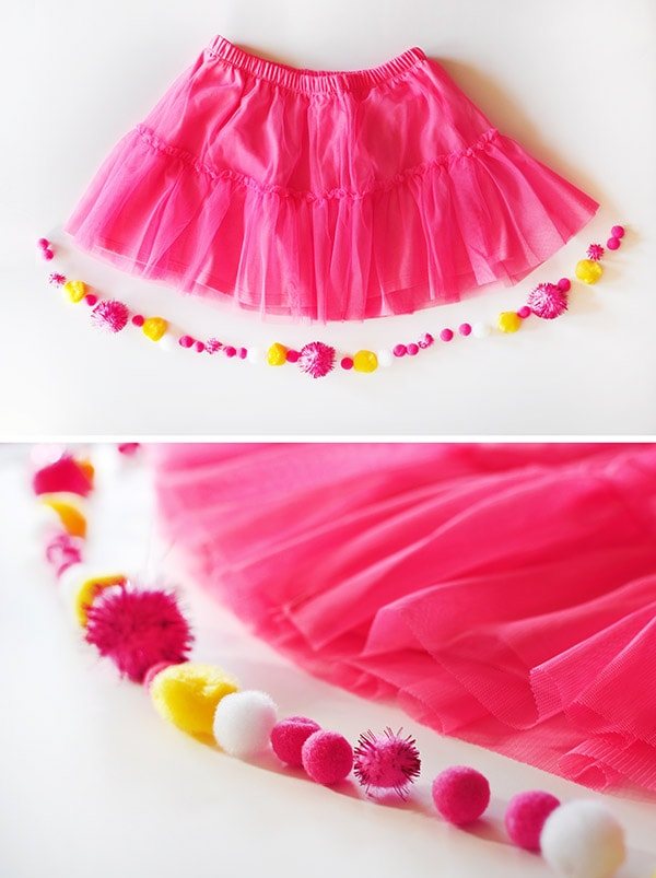 Pom Pom Party Skirt steps