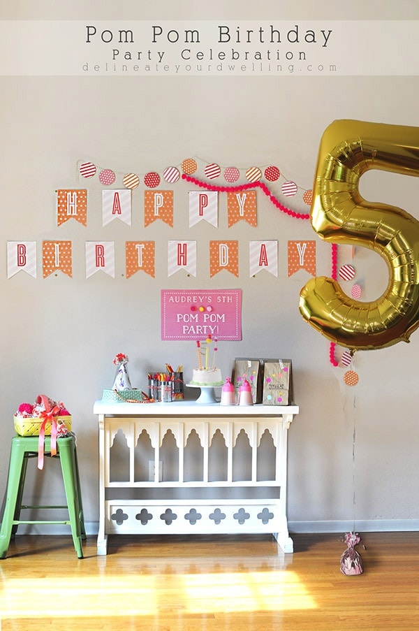 Creative Pom Pom Birthday Party - The perfect party for your little girl, Delineate Your Dwelling