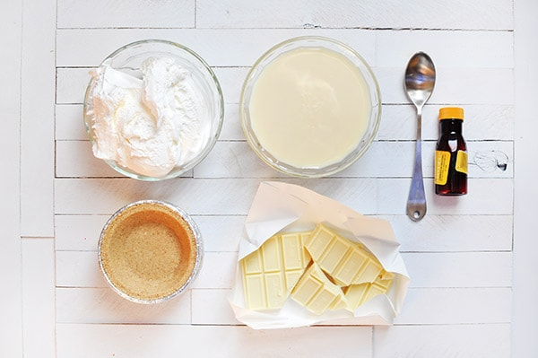 White Chocolate Mousse ingredients