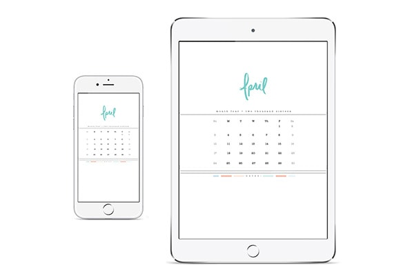 April 2016 Hand Lettered Digital Calendar, Delineate Your Dwelling