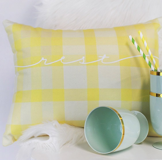 1 Spring Plaid Pillow