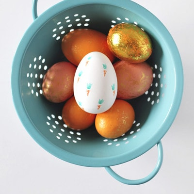 Carrot Stamped Easter Eggs, Delineate Your Dwelling