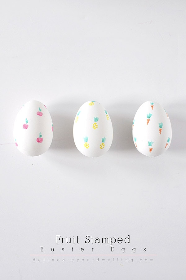 Simple and fun Fruit Stamped Easter Eggs, Delineate Your Dwelling