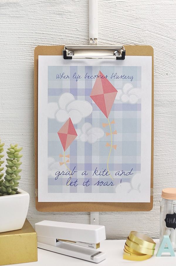 Let it Soar FREE Spring Printable, Delineate Your Dwelling