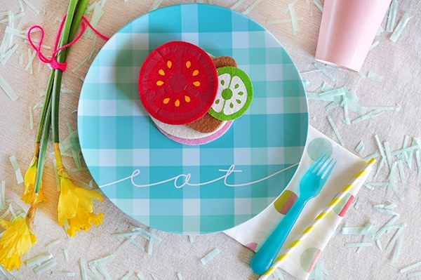 Spring Picnic Eat Plate