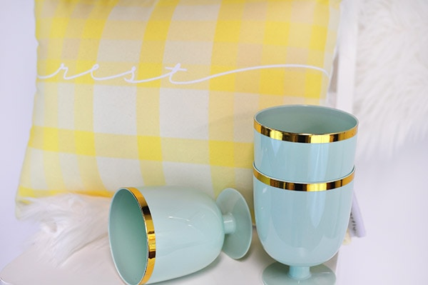 Spring Yellow Plaid Pillow