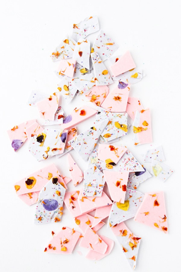colorblocked-chocolate-bark, Chocolate Bark Recipe