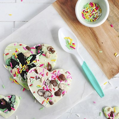 1 Chocolate Heart Bark