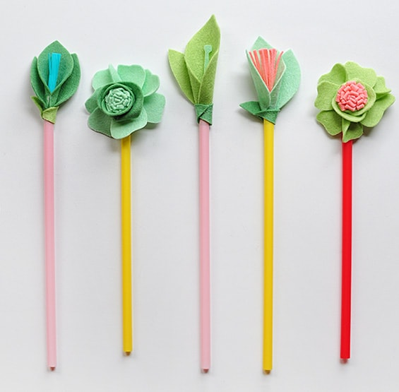 1 DIY Felt Flowers