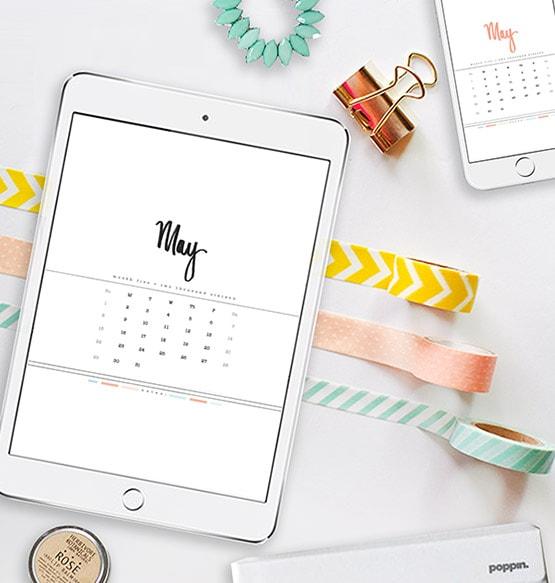 1 May 2016 Digital Calendar