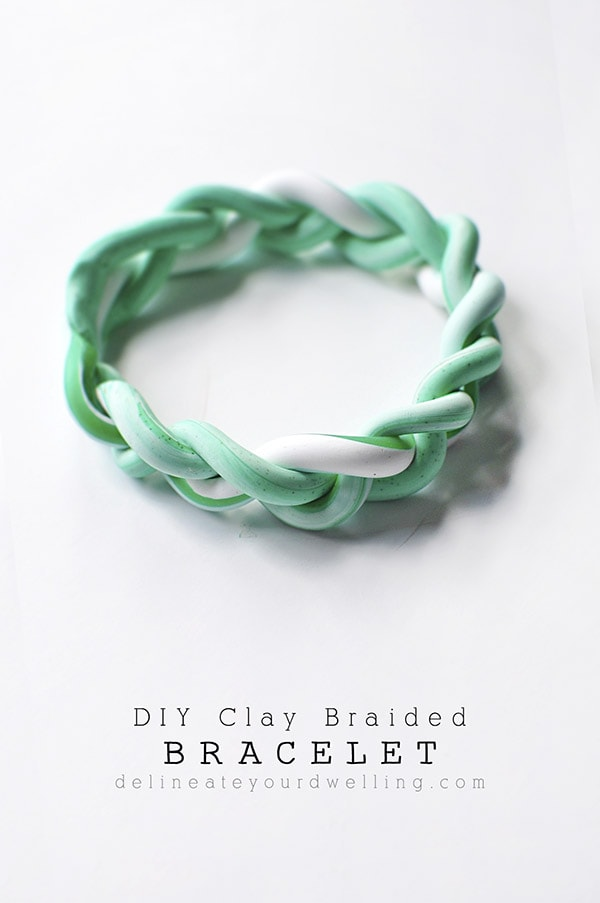 How to create a simple marbled DIY Clay Braided Bracelet, Delineate Your Dwelling