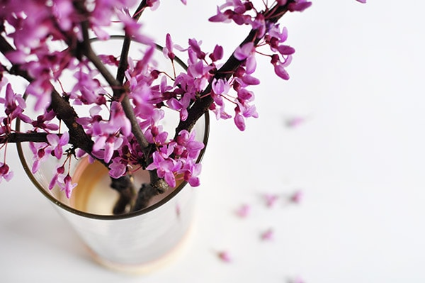 Gold Foil Vase flower