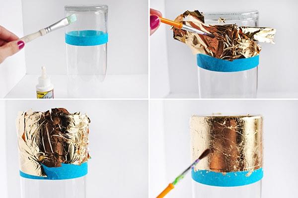 Gold Foil Vase steps