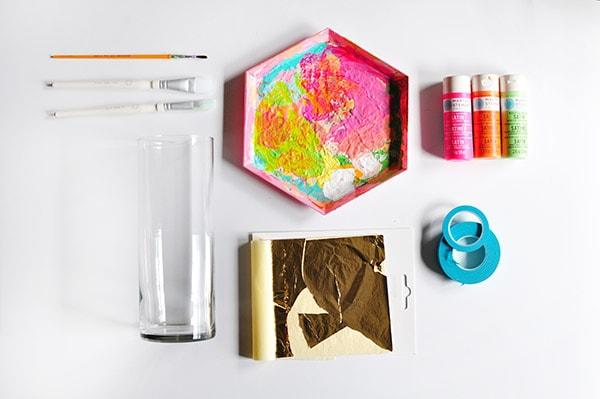 Gold Foil Vase supplies