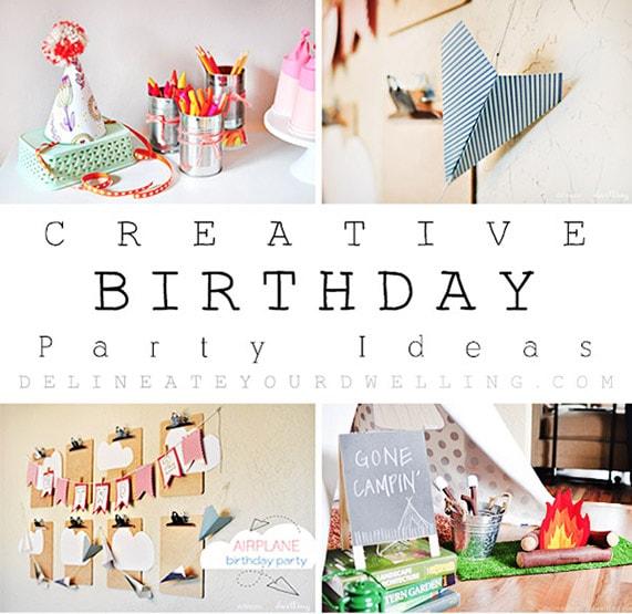 1 Creative Birthday Parties Roundup