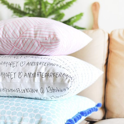 DIY Custom Pillows