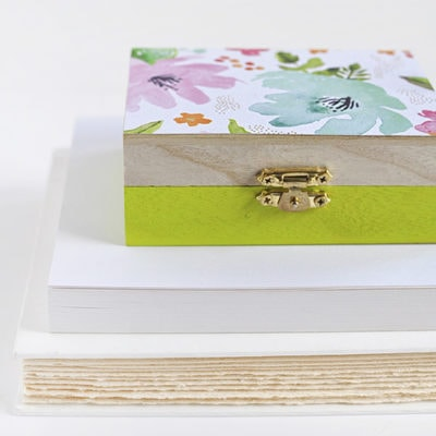 DIY Floral Painted Wooden Box
