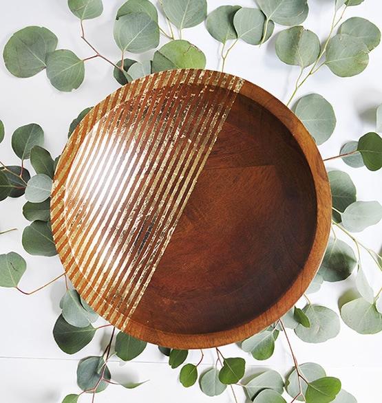 1 Striped Gold Foil Bowl