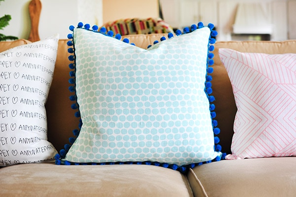 DIY Custom Fabric Pillow couch