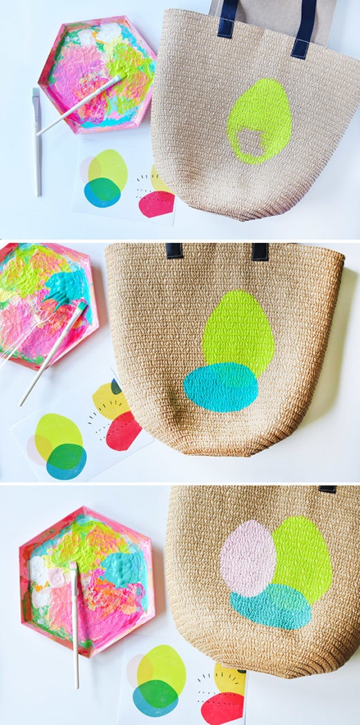 Painted Circle Summer Tote steps