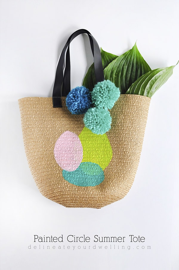 How to create this DIY Painted Circle Summer Tote, Delineate Your Dwelling